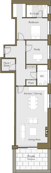 Ground-Floor-Apartment-No.-3-One-Bedroom-plus-Study