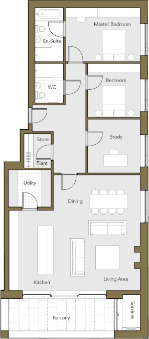 Second-Floor-Apartment-No.7-Two-Bedroom-plus-Study